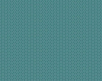 Teal Circle Dots Fabric by Riley Blake