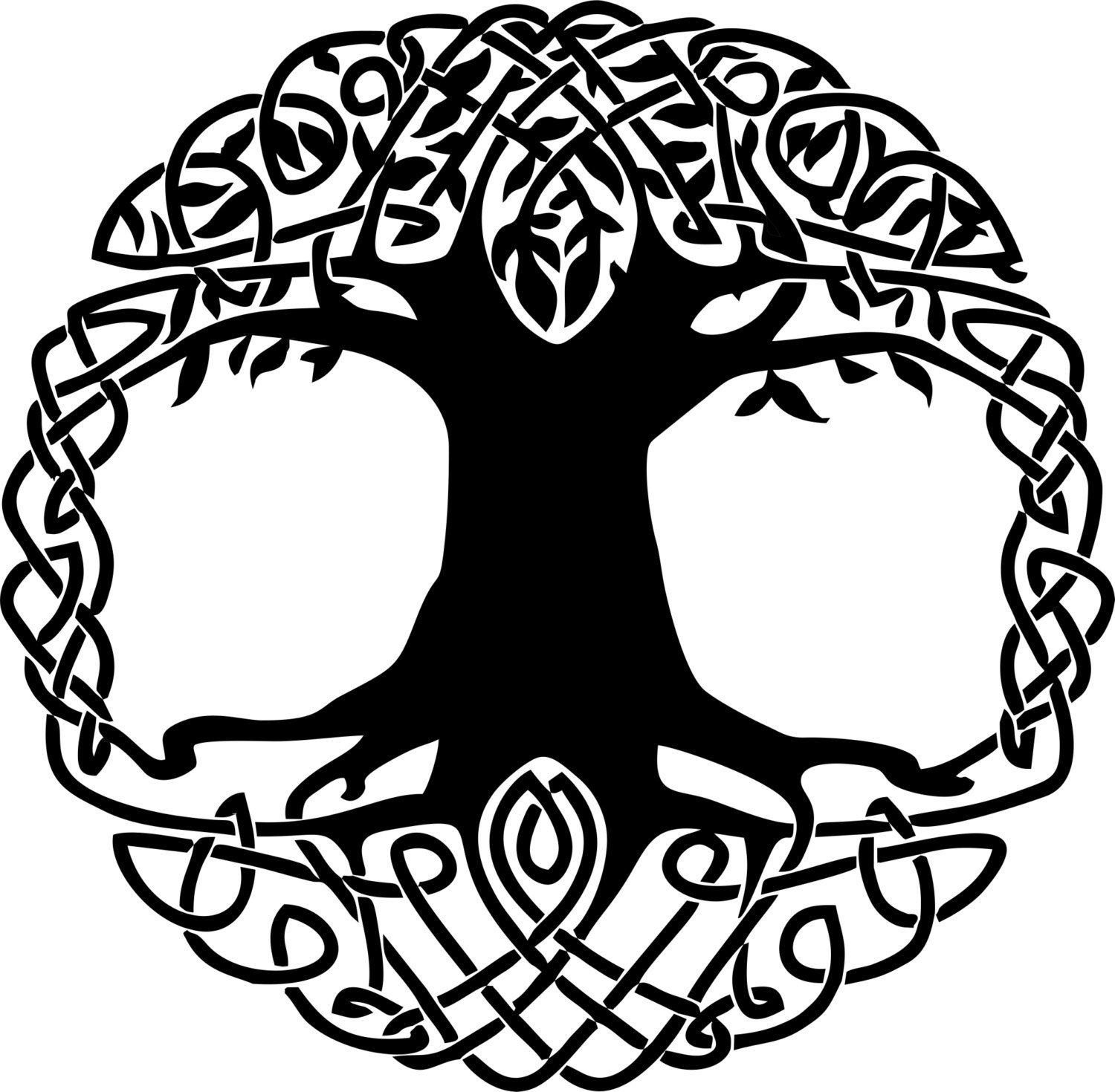 Celtic knot tree of life vinyl decal description celtic knot buycottarizona Images