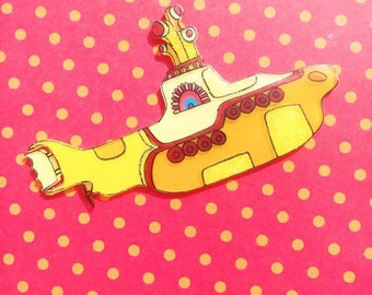 Beatles Yellow Submarine Brooch