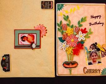 Quilled Birthday Card - Unforgettable Spring