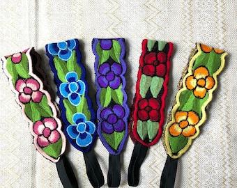 Mexican headband, Artesania mexicana, Embroidered headbands, Boho style headband, Deadema bordada