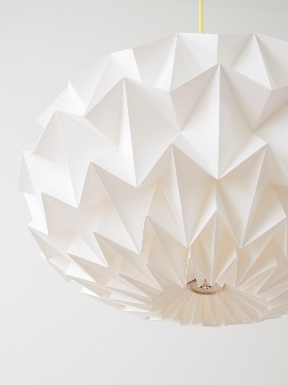 Signature white paper origami lampshade size xl hanging jeuxipadfo Gallery