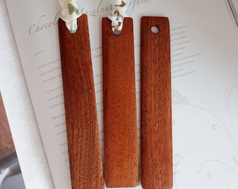 Wooden Bookmark. Wood Bookmark. Wood Book Mark. Sapele Bookmark. Bookmark Wood. Ribbon Bookmark.