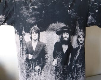 90s Beatles All Over Print Shirt