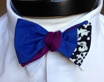 The Walt - Our Disney Inspired bowtie in Frozen colors (Anna)