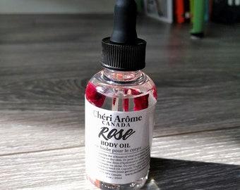 Rose oil Rose body oil Toning body oil