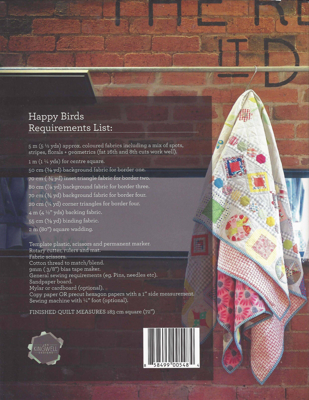 Jen Kingwell Designs Happy Birds QUILT PATTERN ONLY Mystery Block of ...