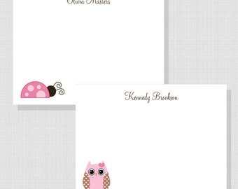 Sweet and Simple Collection:  Printable Flat Notecard with Choice Art for Girls or Boys