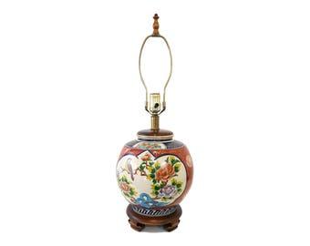 Frederick Cooper Japanese Porcelain Lamp Hollywood Regency Asian Imari