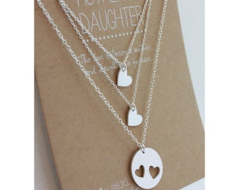 Mother Daughter Necklace Set - Mother's Day Jewelry Gift - mother daughter jewelry - necklace gift - wedding gift - Gift for her - for mom