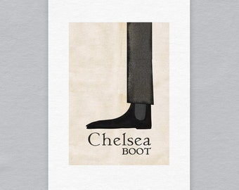 Chelsea Boot - Limited edition A4 print