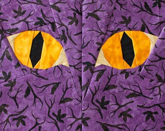 Halloween Cat Eyes - Paper Piecing