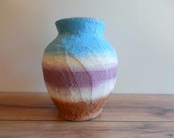 Vase / Blue Purple Grape Brown vase / home and garden / housewares