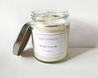 Baby powder - Handmade soy wax candle