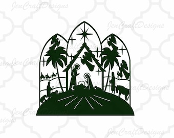 Nativity SVG,EPS Png DXF,digital download files for Silhouette   Cricut, vector Clip Art graphics Vinyl Cutting Machines