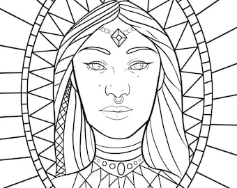 Queen Esther Adult Coloring Page Bible Coloring Page