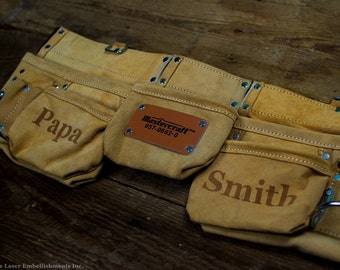 Personalized Leather Tool Belt - Anniversary Gifts for Men - Custom Toolbelt - Customize with ANY DESIGN!
