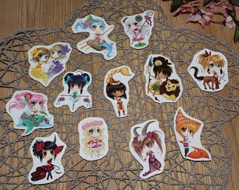 Stickerset-Star sign Chibis in the manga style by Jenny Liz