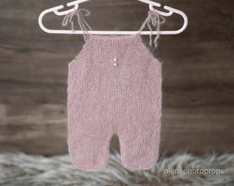 Mohair romper newborn, knit romper and hat newborn, newborn romper and hat set, romper and bonnet set, newborn baby girl outfit.