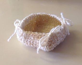 Crochet Wool Basket/key bowl