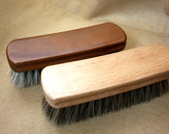 Craft Horse Hair Brush Leathercraft Handcraft Shose Cleaning Polishing Maintain Condition Treatment Finish