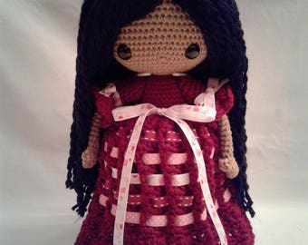 ANGELA Crochet Amigurumi Doll - Crochet Girl Doll -