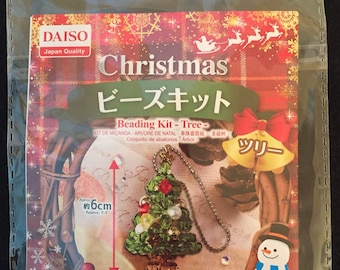 Daiso Christmas Tree Beading Kit