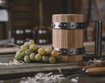 Wooden Beer Mug/ Tankard - Ash wood! Permanent Food safe coating