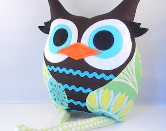 Owl pillow plush - cute owl pillow by bellamina