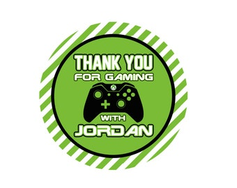 Favor Tags for Video Game Themed Party - 2inch - Personalized - .PDF File Only - YOU PRINT