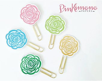Pretty Rosette Planner Clip / Bookmark with Real Foil | Planner Accessories