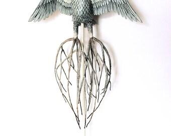 Nature OWL migrant roots free KriSoft OOAK Doll
