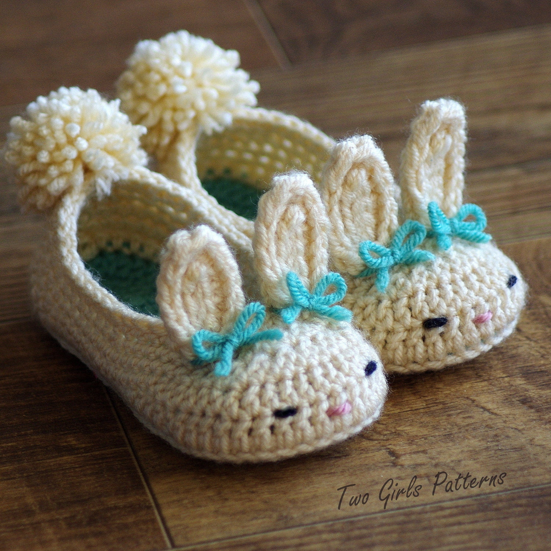 Toddler Bunny Slippers The Classic Bunny Slipper Crochet Pattern ...