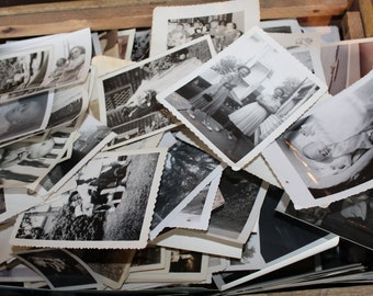 Lot of 20 Black and White Photographs  - Scrapbooking -