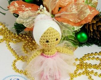 Crochet doll, amigurumi doll, miniature doll, crochet toy, ballerina doll, tiny doll, soft toy, soft doll, handmade doll, doll, knitted doll