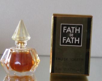 Fath de Fath  by Jacques Fath - FULL - Miniature perfume bottle - Eau de Toilette Parfum-