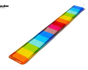 Rainbow Suncatcher - Rainbow Hanging - Fused Glass Rainbow - Pride Gift - Fused Glass Suncatcher - Rainbow Colours - House Warming Gift