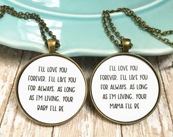 Top Mom daughter jewelry | Etsy TC14