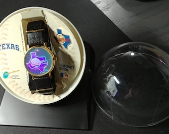 Upper Deck Laserthron Holographic Major League Baseball Texas Rangers Team Watch