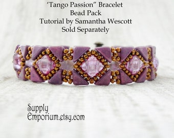 Tango Passion Bead Pack, BB3, for Backsplash Bracelet From Samantha Wescott - Tutorial Sold Separately - Colorway by Claire