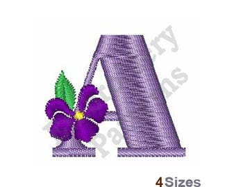 Violet Font A - Machine Embroidery Design - 4 Sizes, Lettering, Alphabet, Font, A Embroidery, Uppercase Design