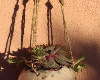Raku Ceramic Hanging Vase, Raku Vase, Ceramic Vase, Hanging Vase, Home Decor
