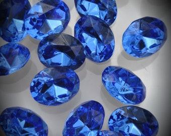 4130 10x8mm Genuine Swarovski Crystals Sapphire Ovals Foiled Rhinestones