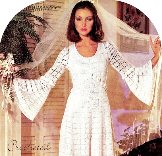 Vintage crochet wedding dress pdf pattern crochet wedding gown vintage crochet wedding dress pdf pattern crochet wedding gown digital pattern from kinziewoolshop on etsy studio junglespirit Gallery