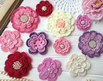 Crochet flowers (11pcs)