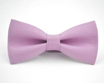 Mens Bowtie- Free Spirit Kona in Thistle, Light Purple Bow Tie, Groomsmen Bow Tie, Wedding Bow Ties, Adjustable Bow Tie