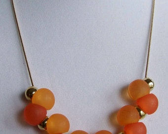 Bright sunny day necklace w earrings