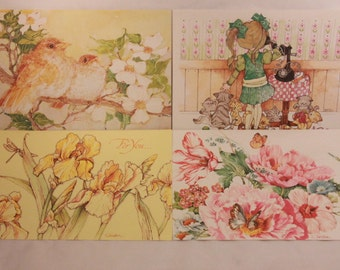 New! 1980 Vintage Current Assortment of Mother's Day Cards. 6 Cards with Envelopes.