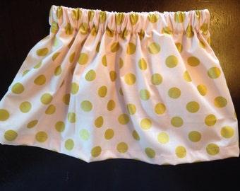 Gold polka dot skirt