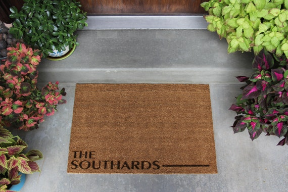 Personalized Door Mat 3 Different Styles 2 Sizes Available